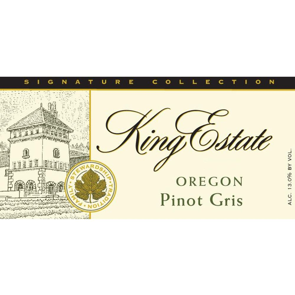 King Estate Signature Collection Pinot Gris 2012 Front Label
