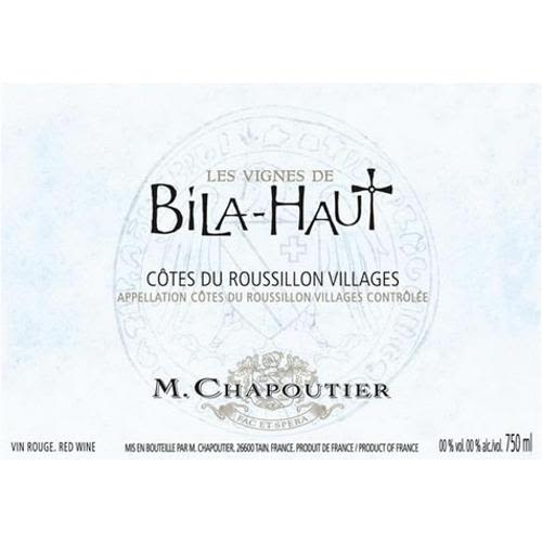 Bila-Haut by Michel Chapoutier Cotes du Roussillon Villages 2010 Front Label