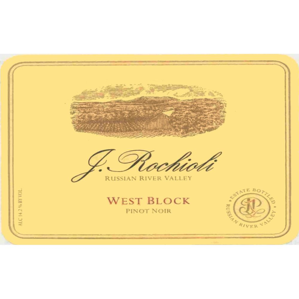 Rochioli West Block Pinot Noir 2010 Front Label