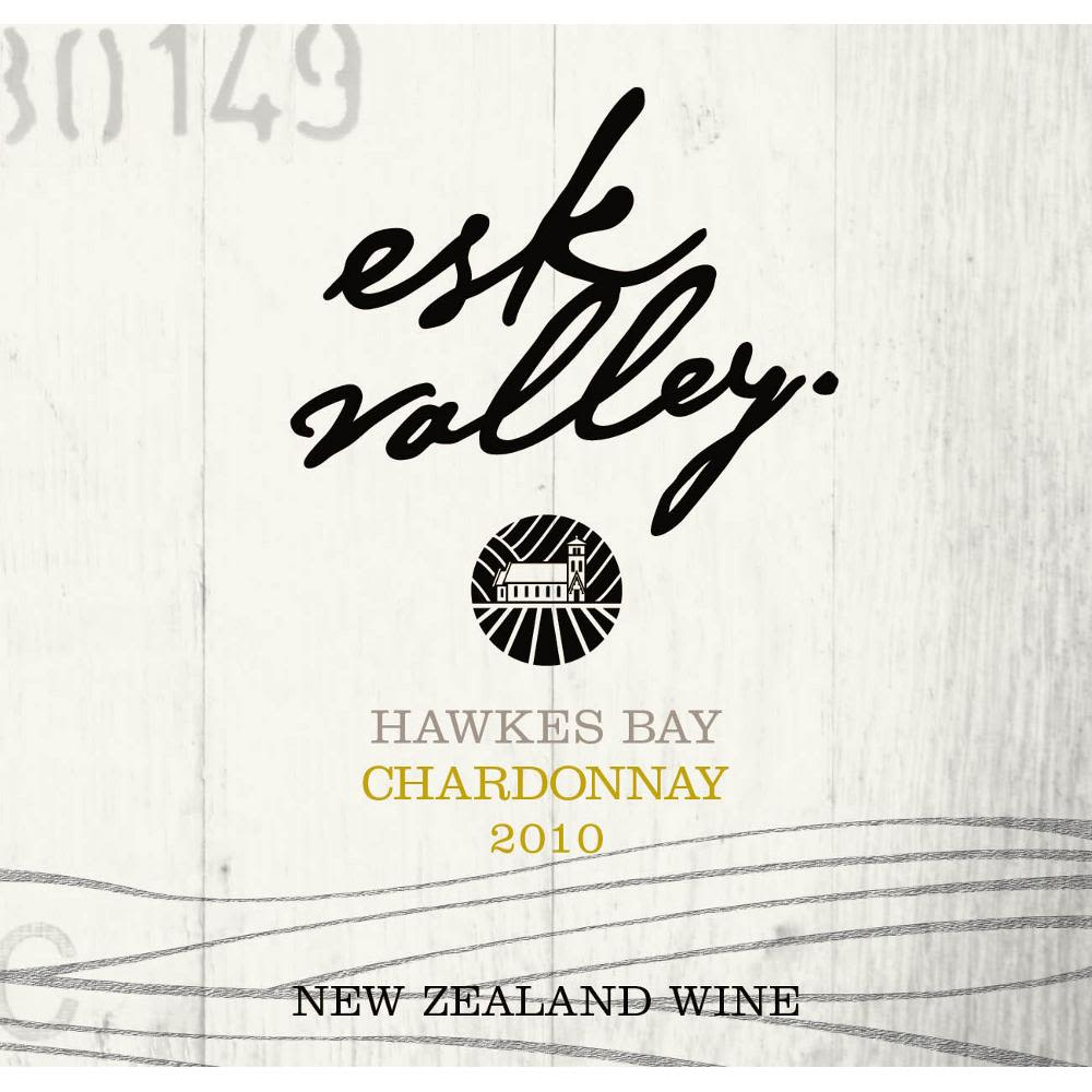 Esk Valley Chardonnay 2010 Front Label