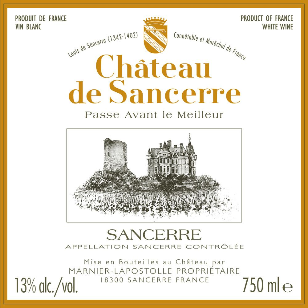 Chateau de Sancerre Blanc 2011 Front Label