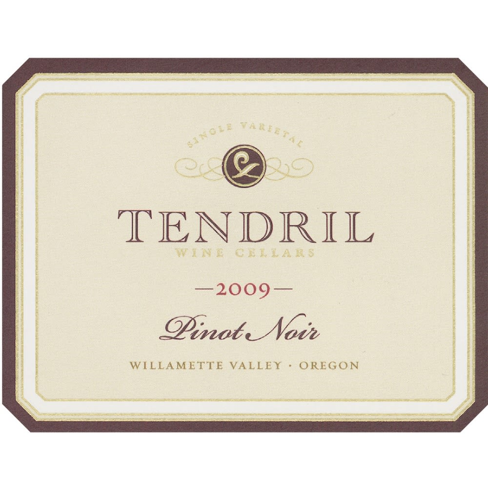 Tendril Pinot Noir 2009 Front Label