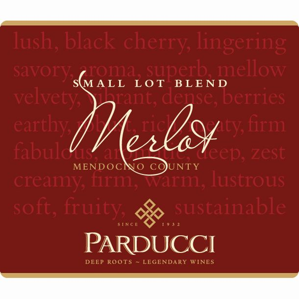 Parducci Small Lot Blend Merlot 2010 Front Label