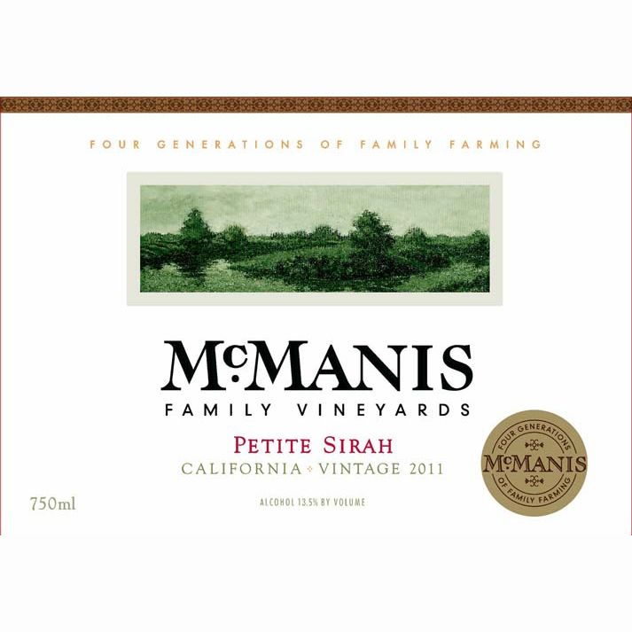 McManis Family Vineyards Petite Sirah 2011 Front Label