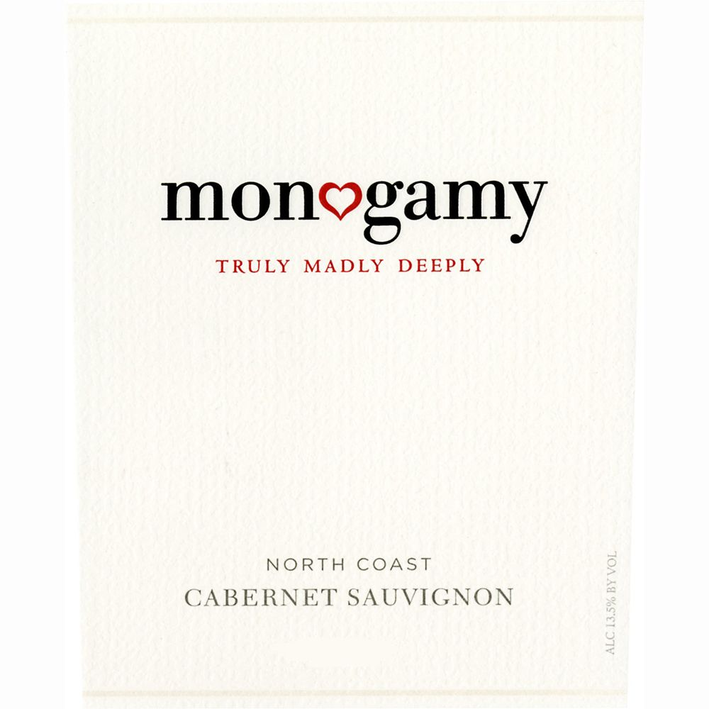 Monogamy Truly Madly Deeply Cabernet Sauvignon 2011 Front Label