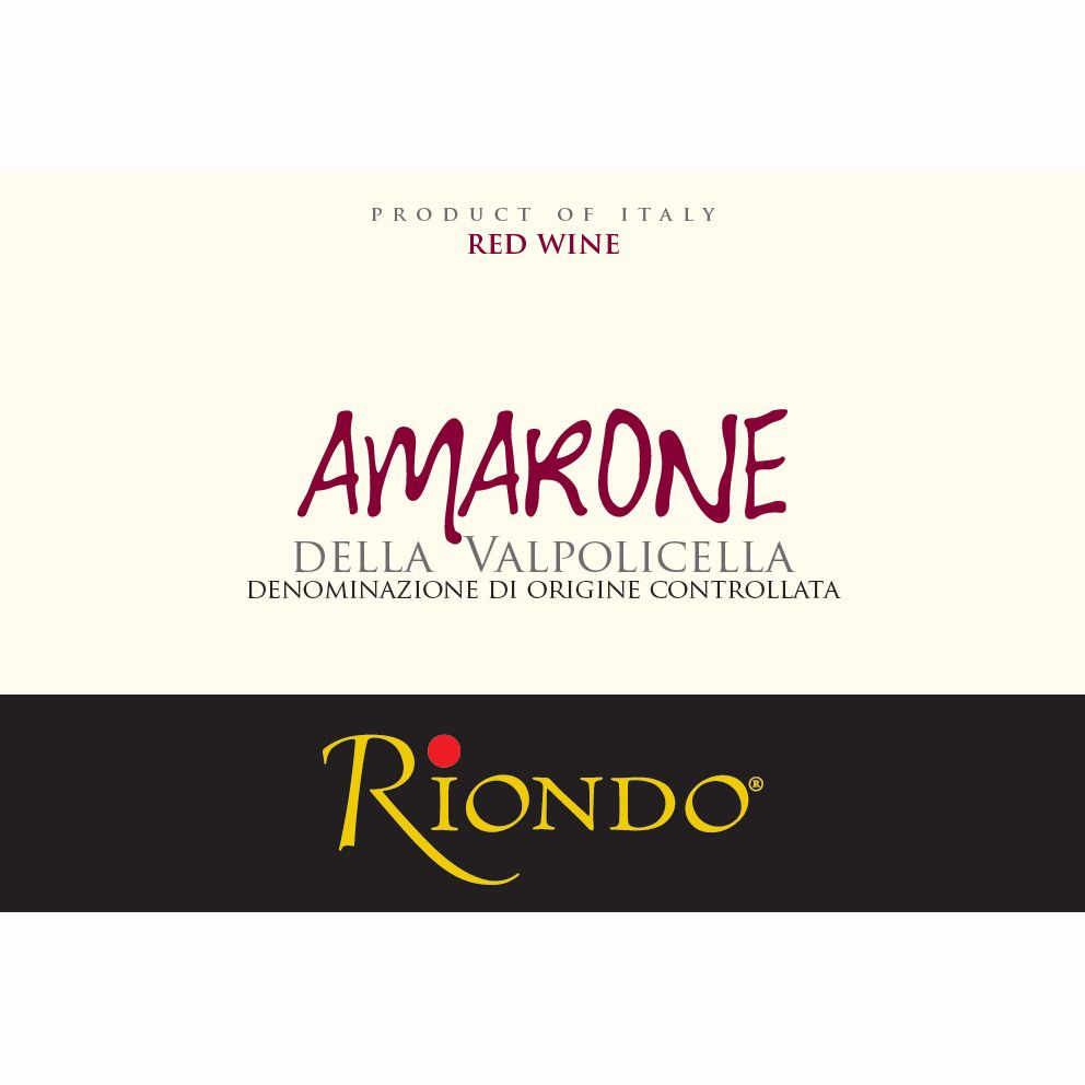 Riondo Amarone 2008 Front Label
