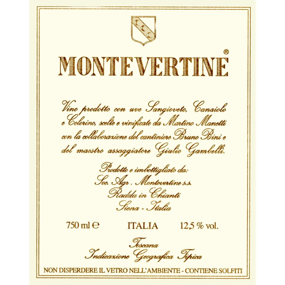 Montevertine Rosso di Toscana 2009 Front Label