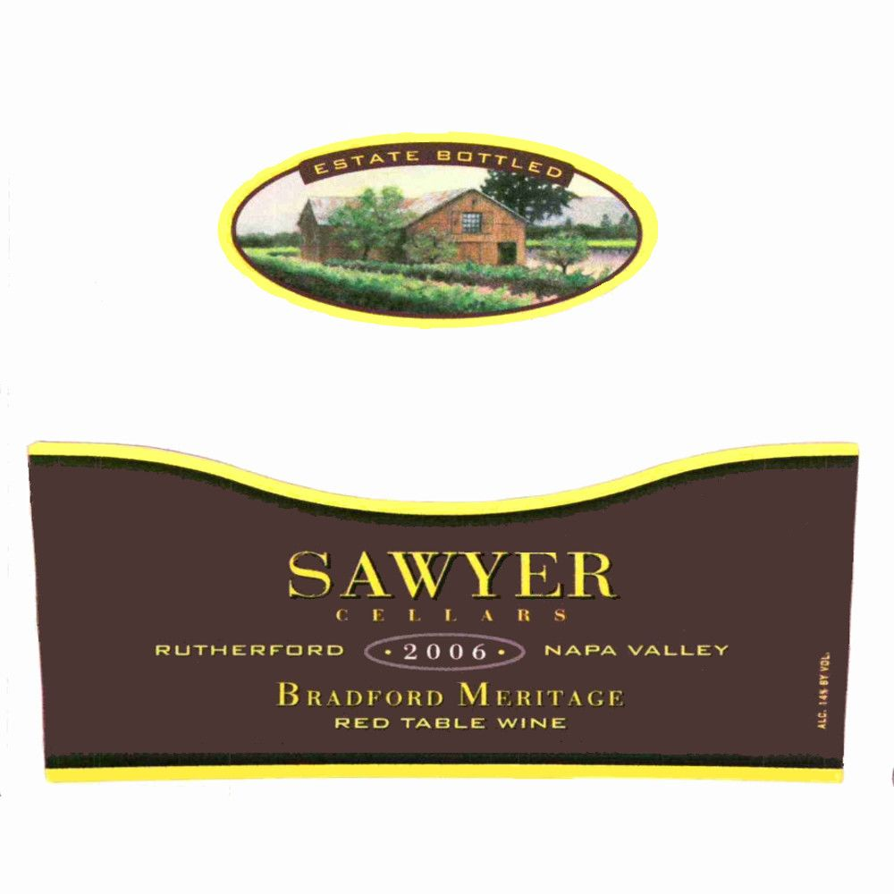 Sawyer Cellars Estate Bradford Meritage 2006 Front Label