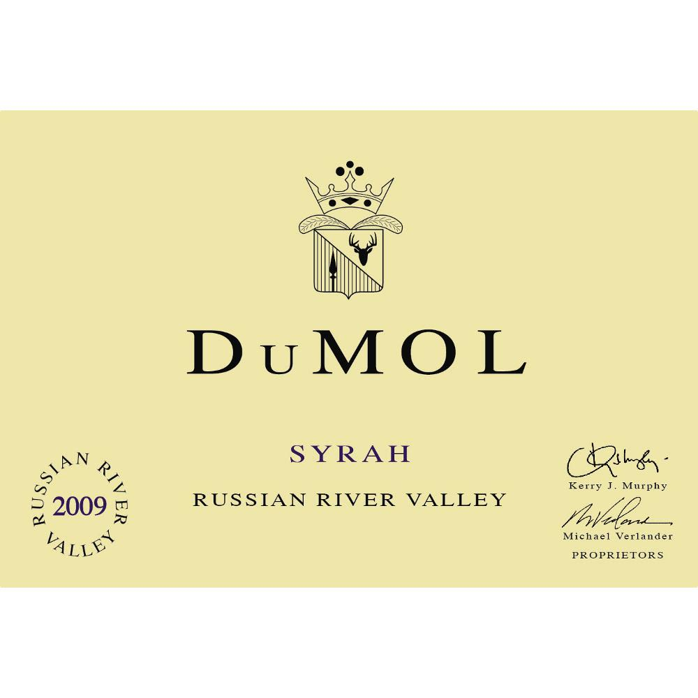 DuMOL Russian River Valley Syrah 2009 Front Label