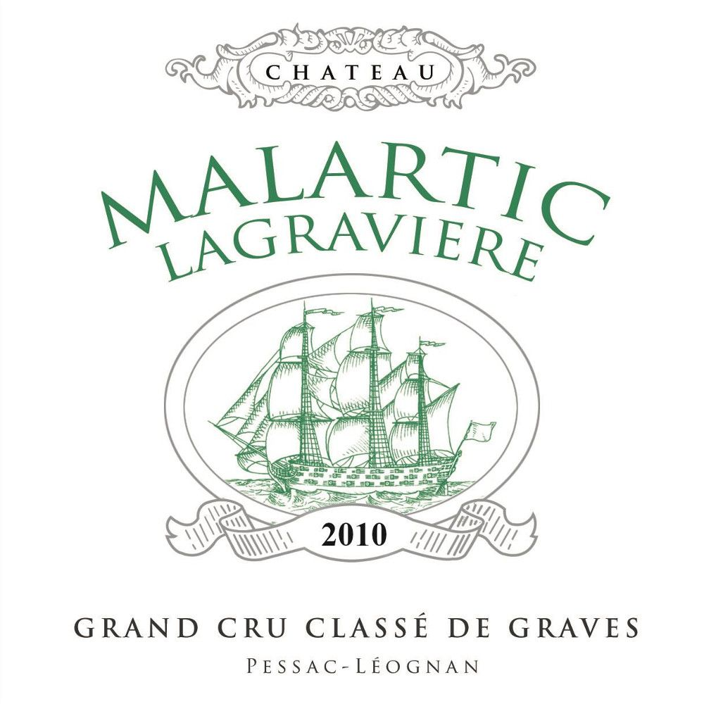 Chateau Malartic-Lagraviere Blanc 2010 Front Label
