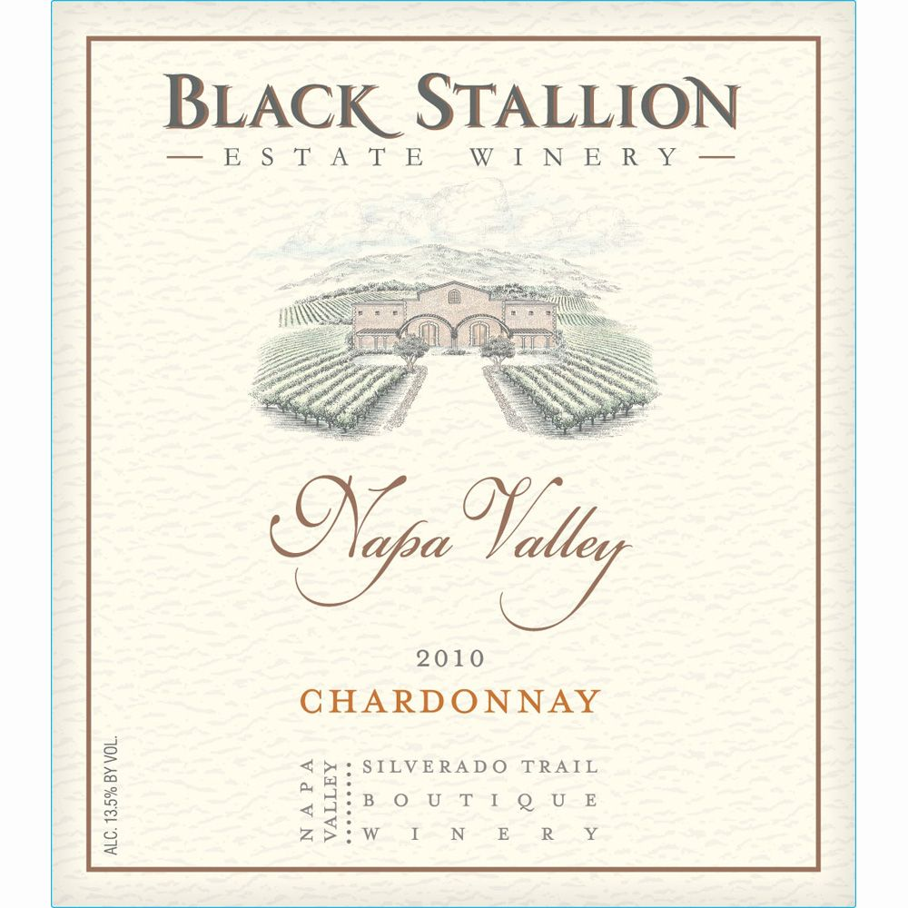 Black Stallion Winery Chardonnay 2010 Front Label