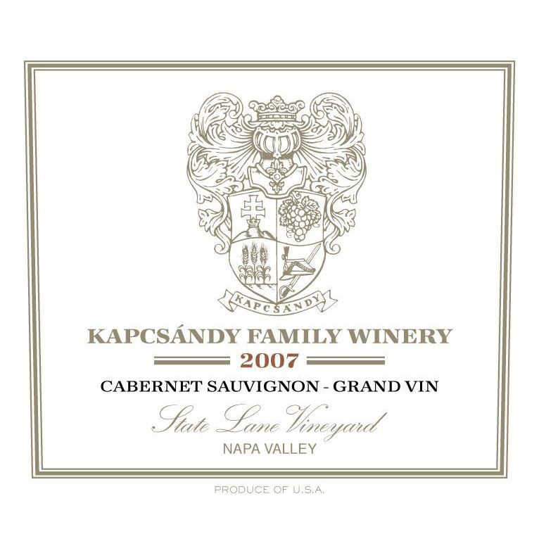 Kapcsandy Family Winery State Lane Cabernet Sauvignon Grand Vin (1.5 Liter Magnum) 2007 Front Label