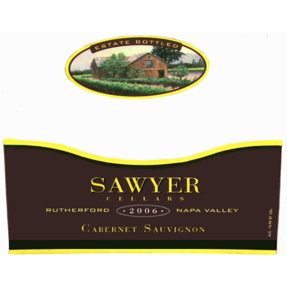 Sawyer Cellars Estate Cabernet Sauvignon 2006 Front Label