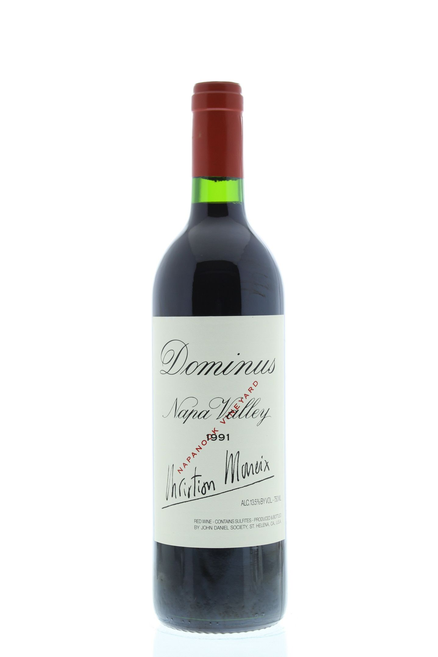 Dominus Estate 1991 Front Bottle Shot