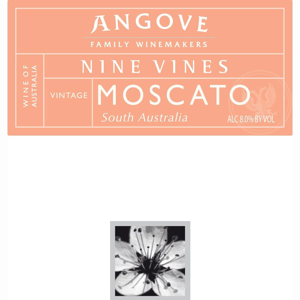 Angove Family Winemakers Nine Vines Moscato 2012 Front Label