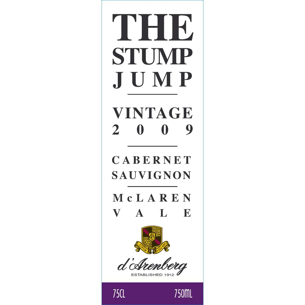 d'Arenberg The Stump Jump Cabernet Sauvignon 2009 Front Label