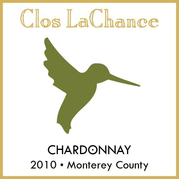 Clos LaChance Monterey County Chardonnay 2010 Front Label