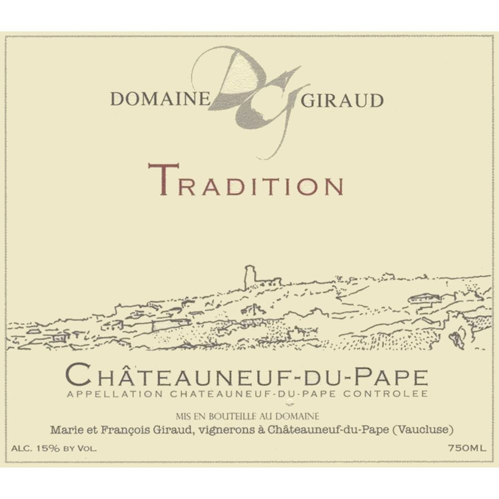 Domaine Giraud Chateauneuf-du-Pape Tradition 2010 Front Label