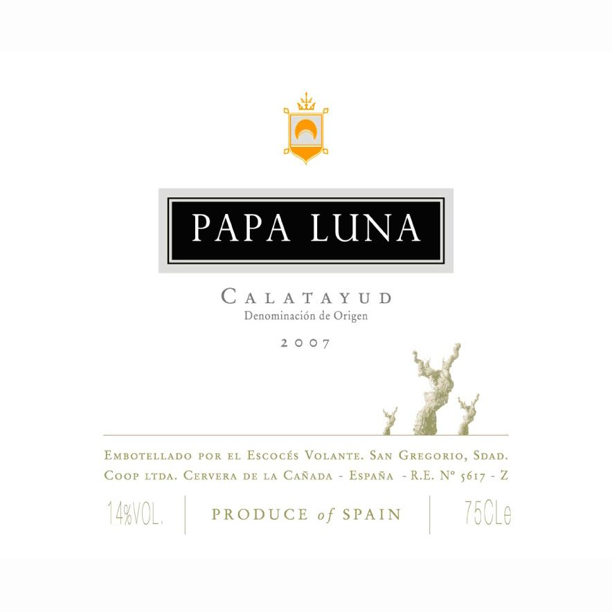 Escoces Volante Papa Luna 2007 Front Label