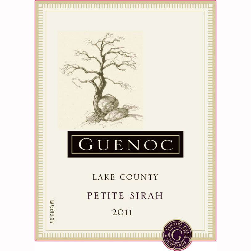 Guenoc Lake County Petite Sirah 2011 Front Label