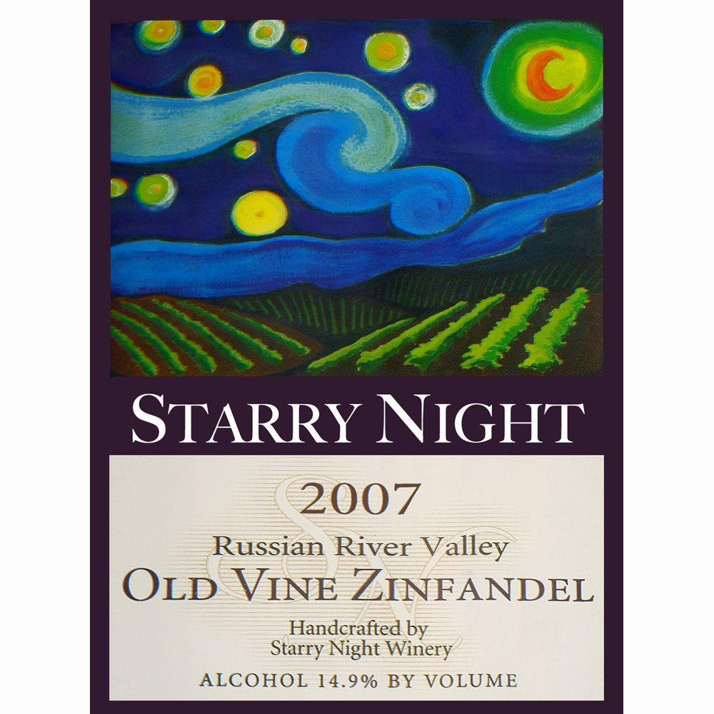 Starry Night Winery Russian River Old Vine Zinfandel 2007 Front Label
