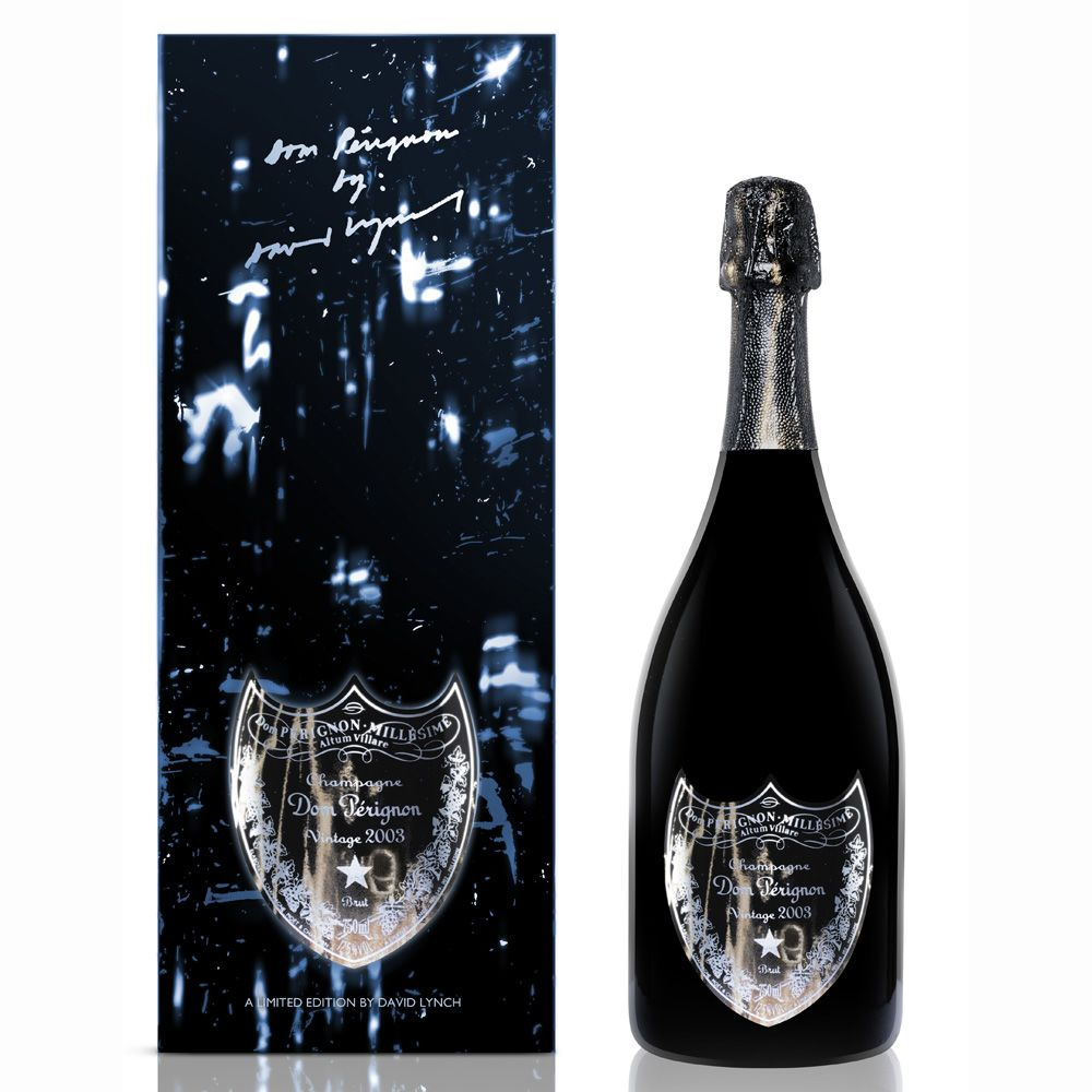 Dom Perignon Limited Edition Gift Box by David Lynch 2003 Front Label