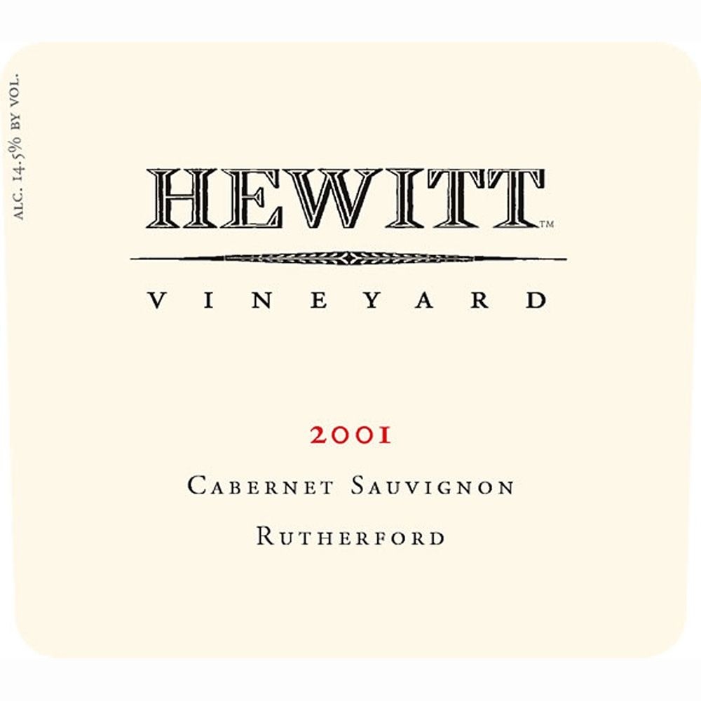 Hewitt Vineyard Cabernet Sauvignon (3 Liter Bottle) 2001 Front Label