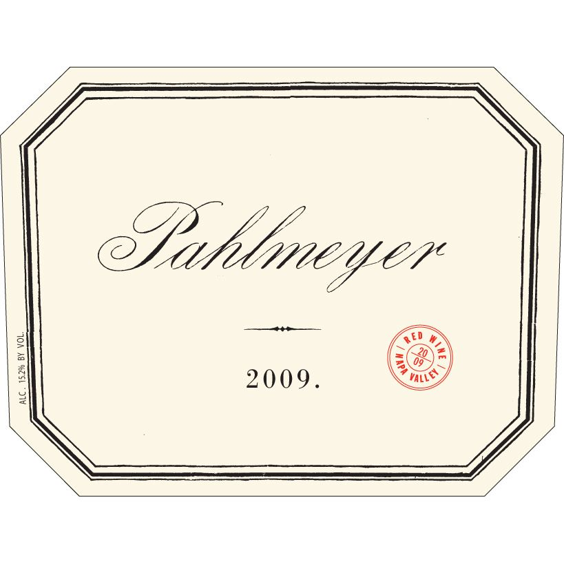 Pahlmeyer Napa Valley Proprietary Red (torn label) 2009 Front Label