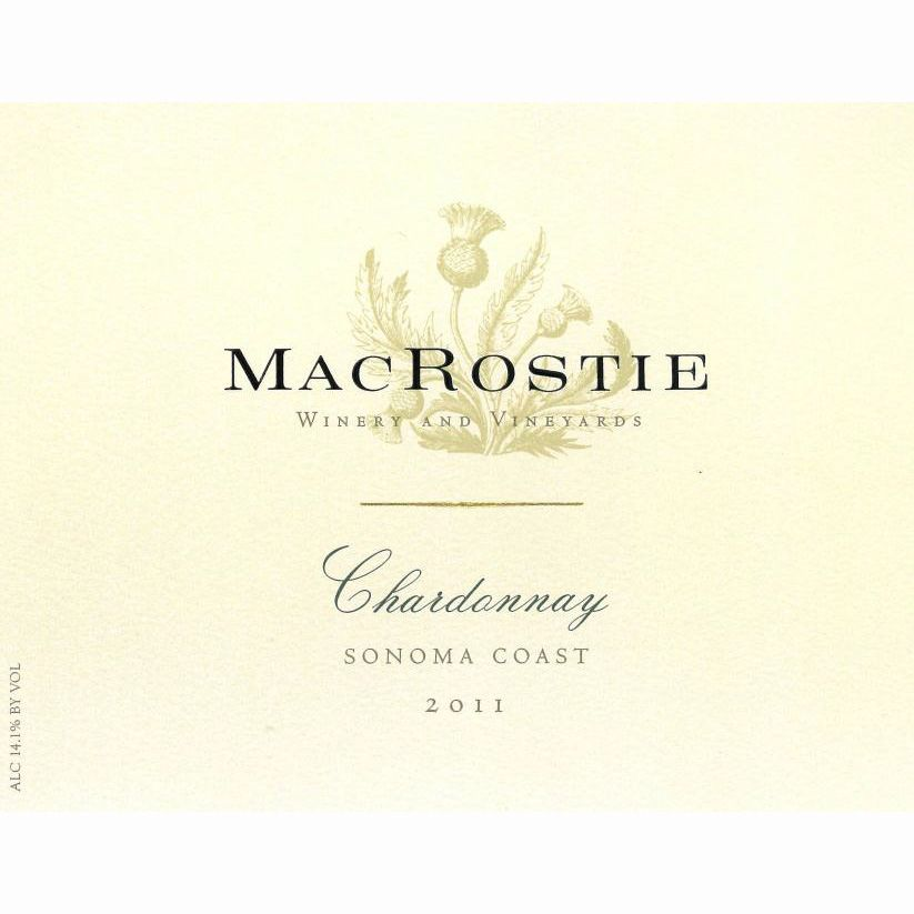 MacRostie Sonoma Coast Chardonnay (375ML half-bottle) 2011 Front Label