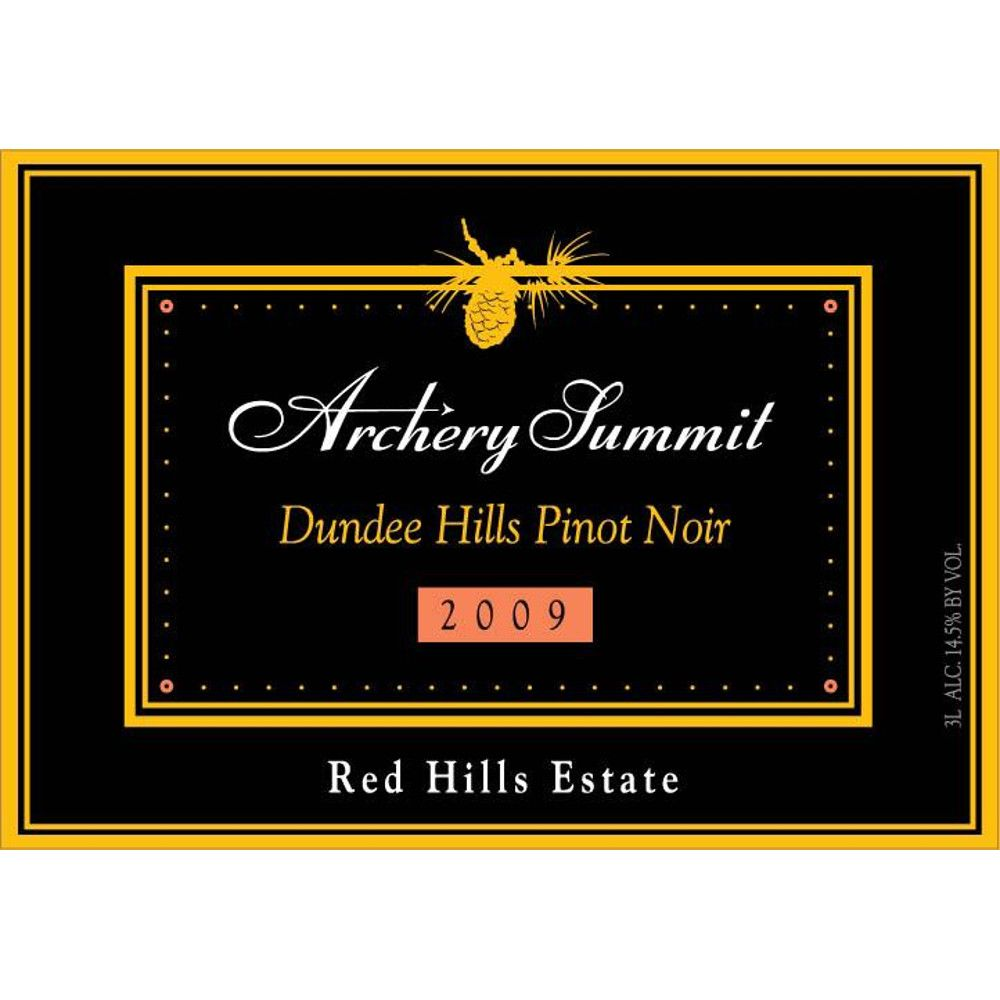 Archery Summit Red Hills Estate Pinot Noir 2009 Front Label
