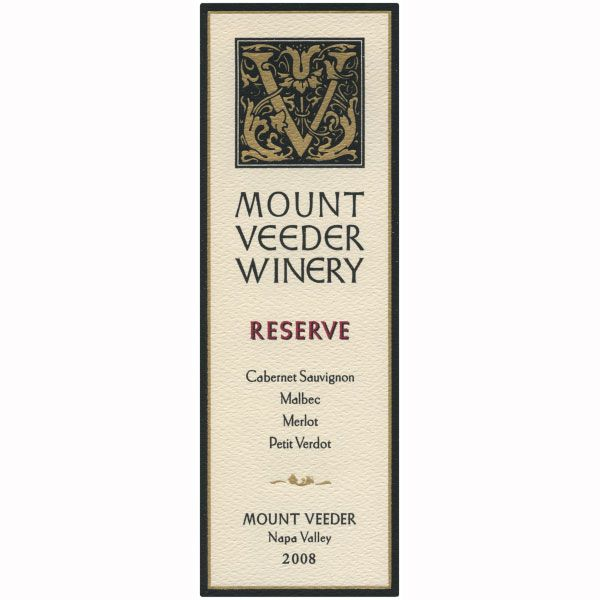Mount Veeder Winery Reserve Red 2008 Front Label