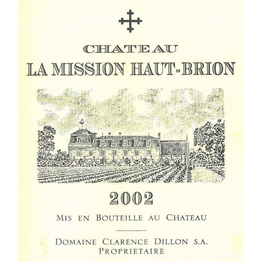 Chateau La Mission Haut-Brion  2002 Front Label