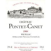 Chateau Pontet-Canet (375ML half-bottle) 2004 Front Label