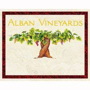 Alban Edna Valley Grenache 2002 Front Label