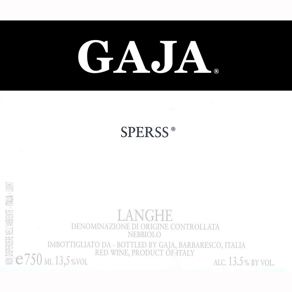 Gaja Sperss 2008 Front Label
