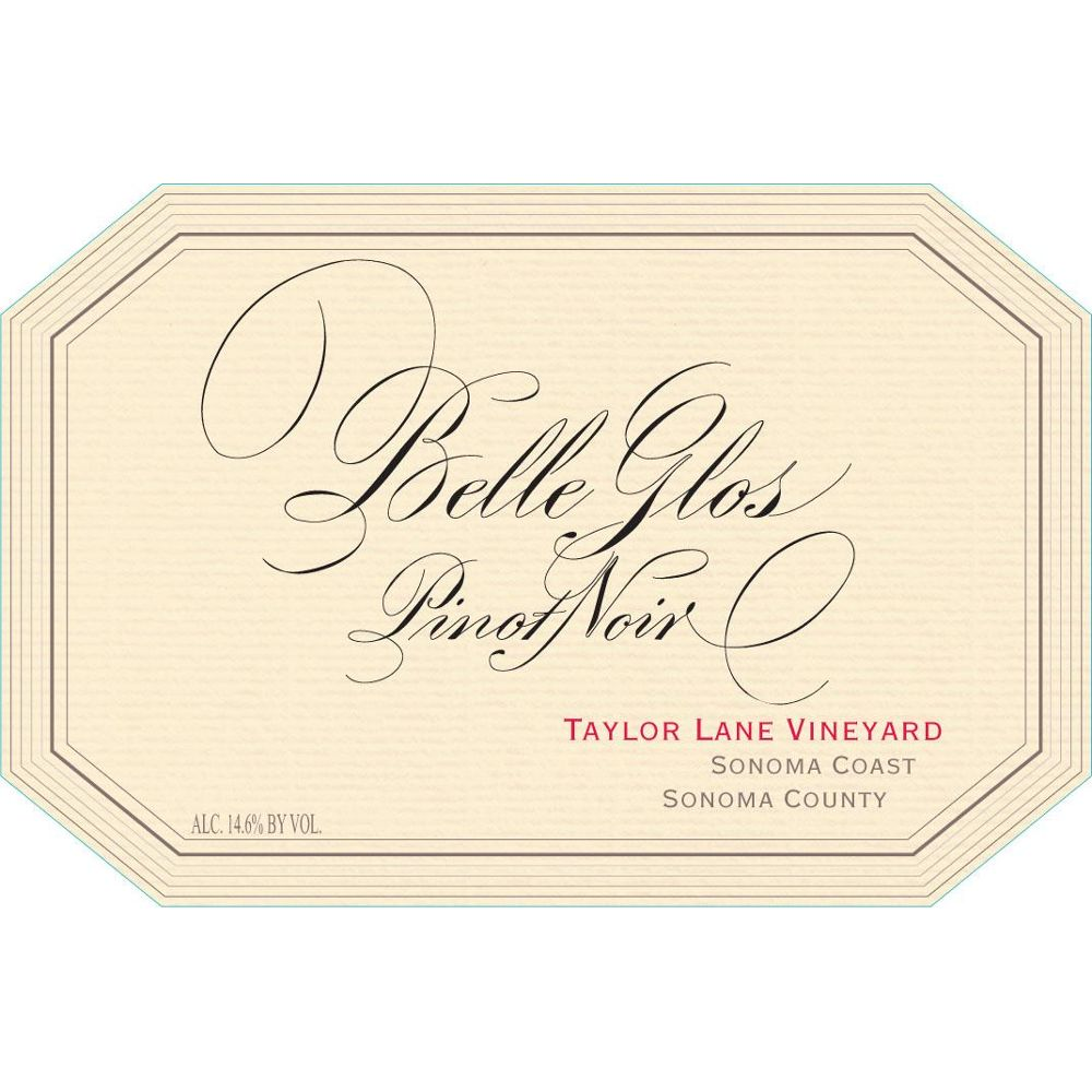 Belle Glos Taylor Lane Vineyard Pinot Noir 2011 Front Label