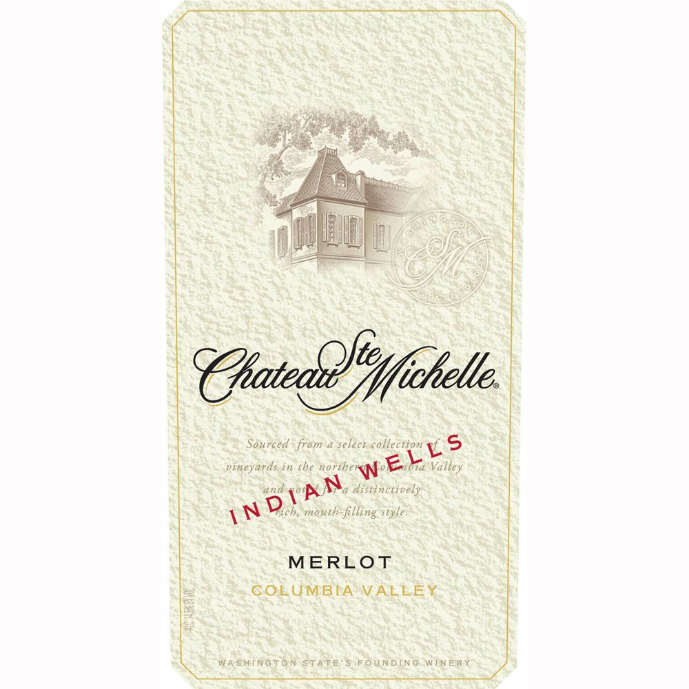 Chateau Ste. Michelle Indian Wells Vineyard Merlot 2010 Front Label