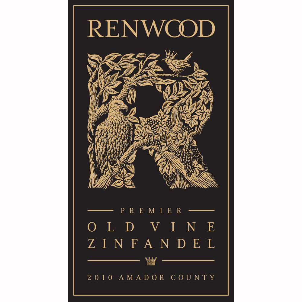 Renwood Winery Premier Old Vine Zinfandel 2010 Front Label
