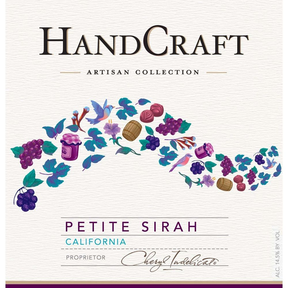 HandCraft Petite Sirah 2010 Front Label