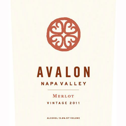 Avalon Napa Merlot 2011 Front Label