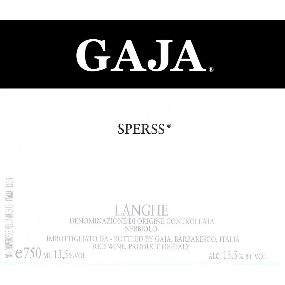 Gaja Sperss (375ML half-bottle) 2008 Front Label