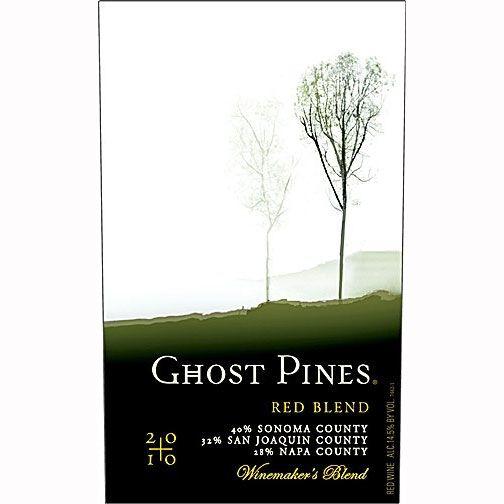 Ghost Pines Red Blend 2010 Front Label