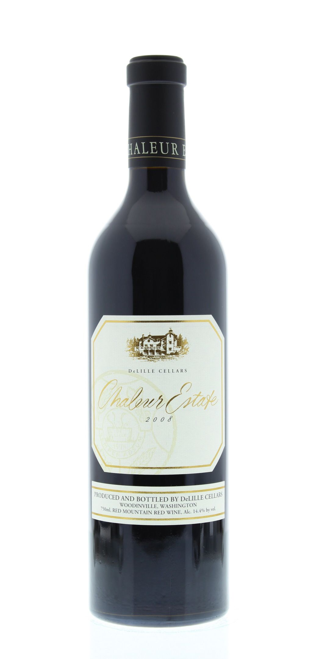 DeLille Chaleur Estate Red 2008 Front Bottle Shot
