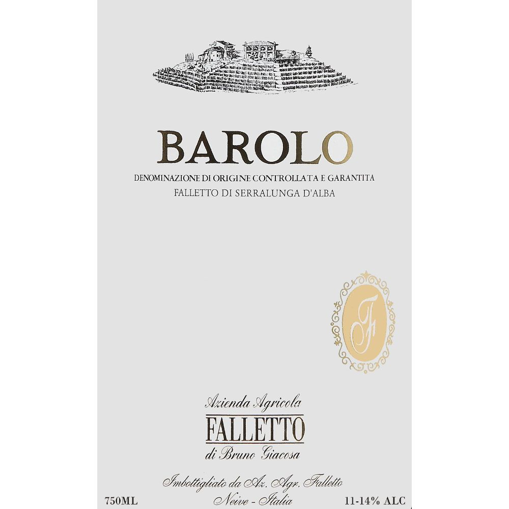 Bruno Giacosa Barolo Falletto 2005 Front Label