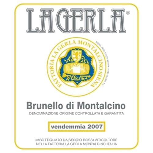 La Gerla Brunello di Montalcino (375ML half-bottle) 2007 Front Label