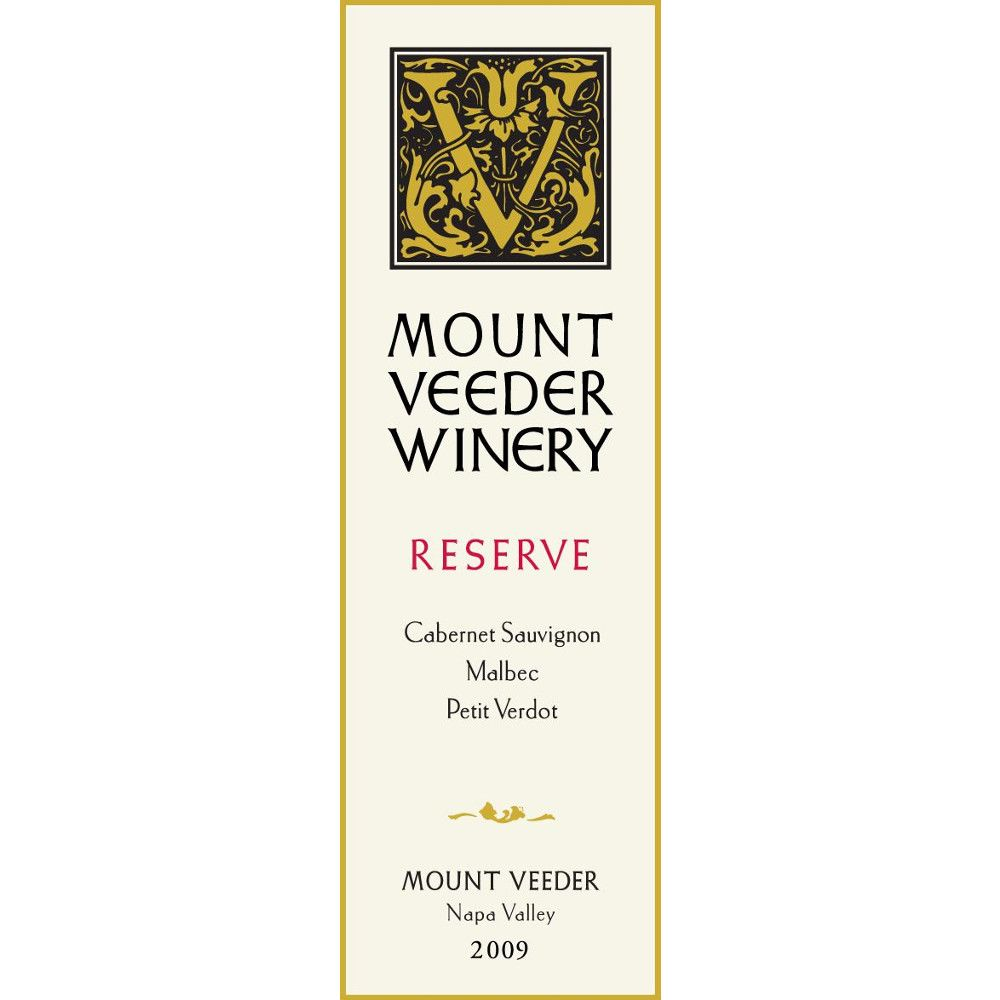 Mount Veeder Winery Reserve Red 2009 Front Label