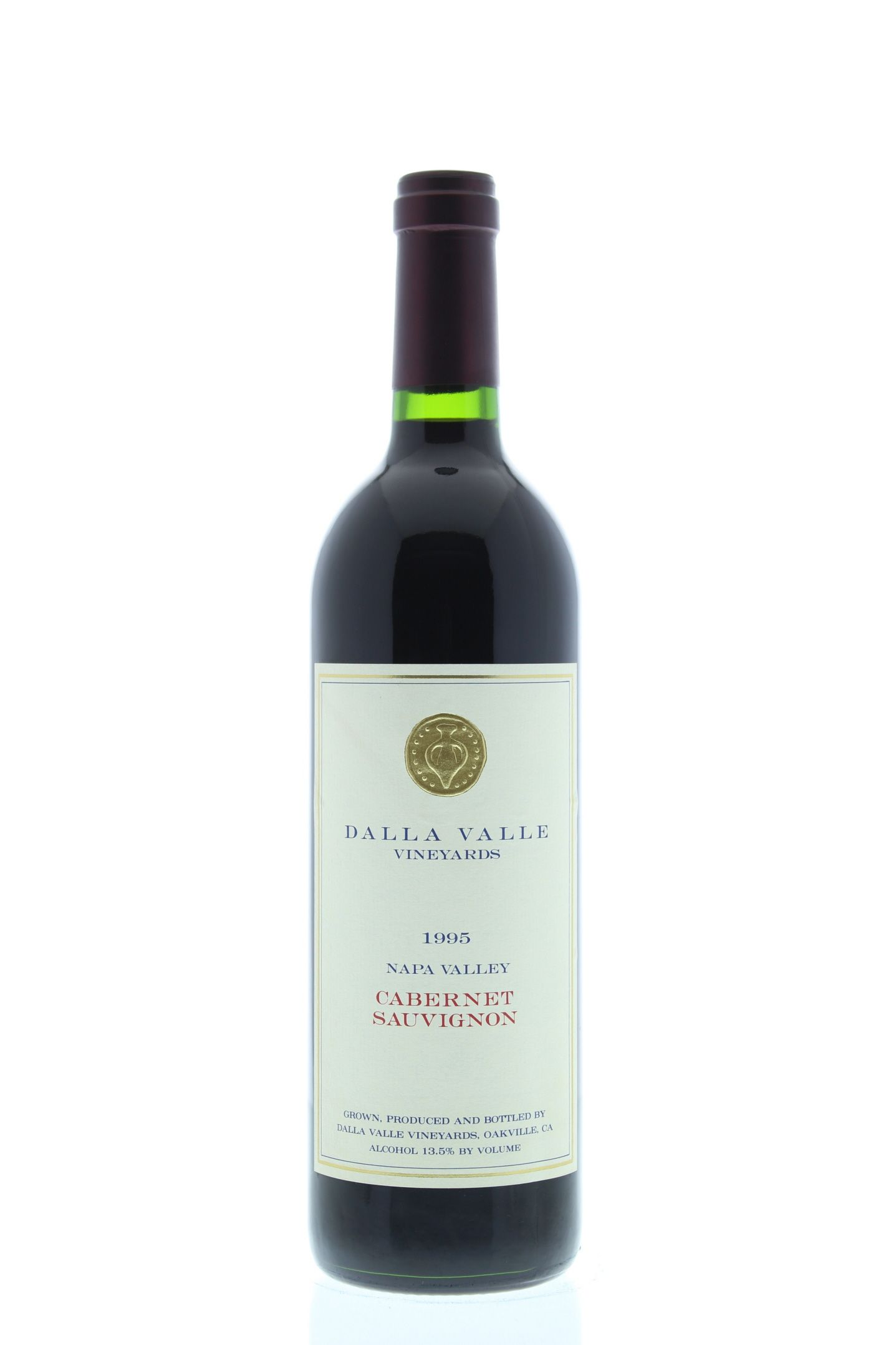 Dalla Valle Cabernet Sauvignon 1995 Front Bottle Shot