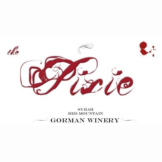 Gorman The Pixie Red Mountain Syrah 2010 Front Label