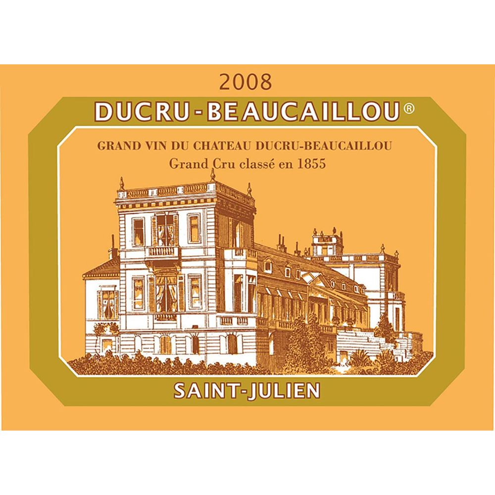 Chateau Ducru-Beaucaillou (1.5 Liter Magnum - slightly scuffed label) 2008 Front Label