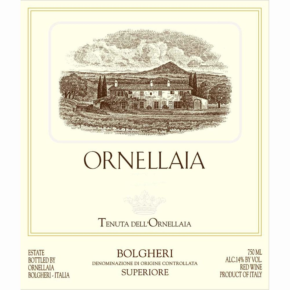 Ornellaia  1997 Front Label